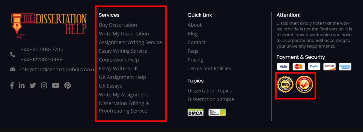 thedissertationhelp.co.uk services